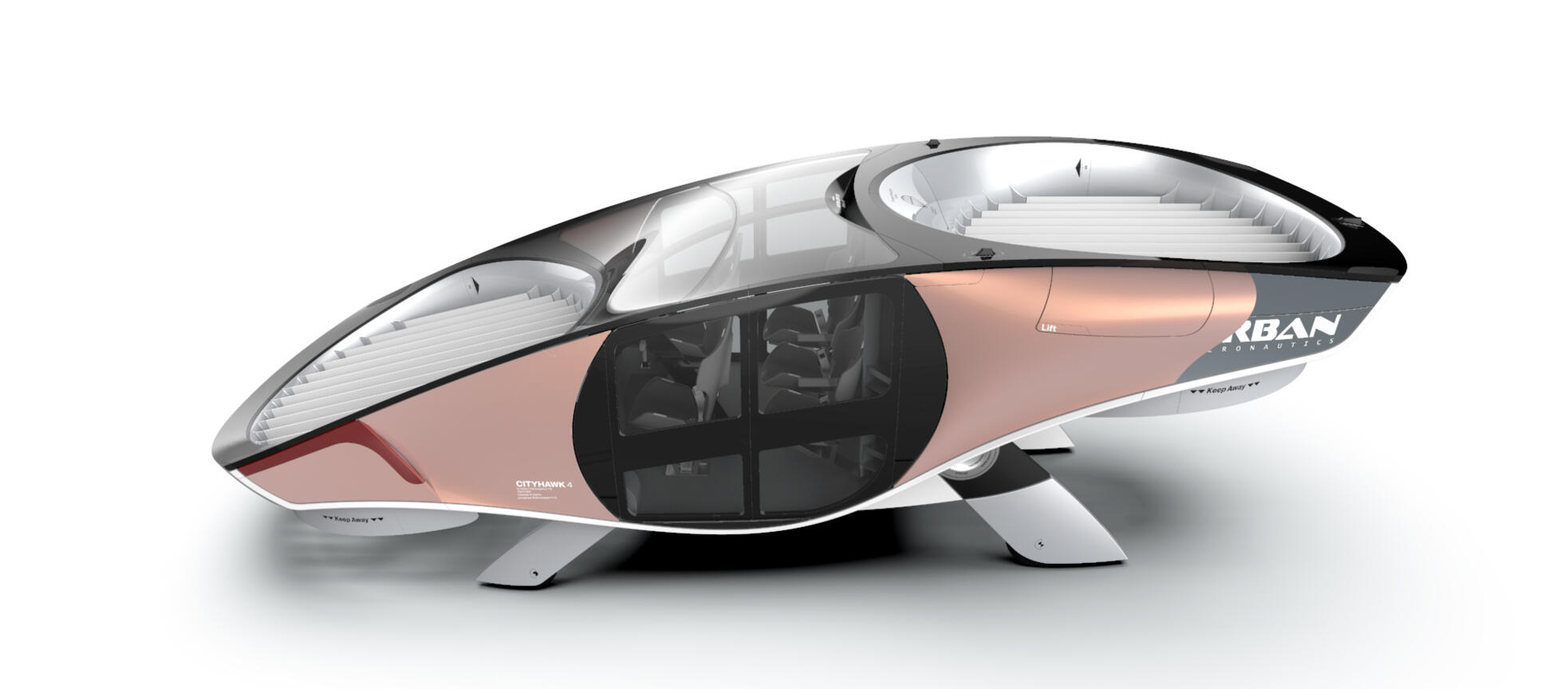 <p>CityHawk: a safe, quiet and sustainable 'car-sized' urban aircraft</p>